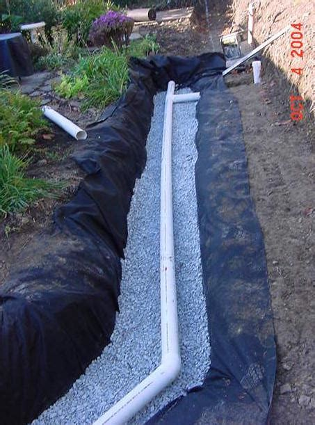 backyard french drain in back yard french drains drainage system