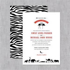 zoo wedding invitation save the date invites