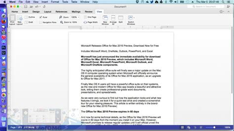 Word Document For Mac