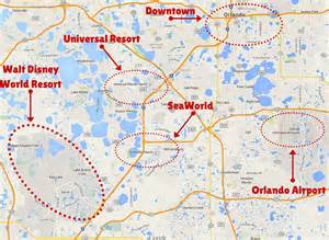 theme parks florida map getting around the orlando theme parks the trusted traveller