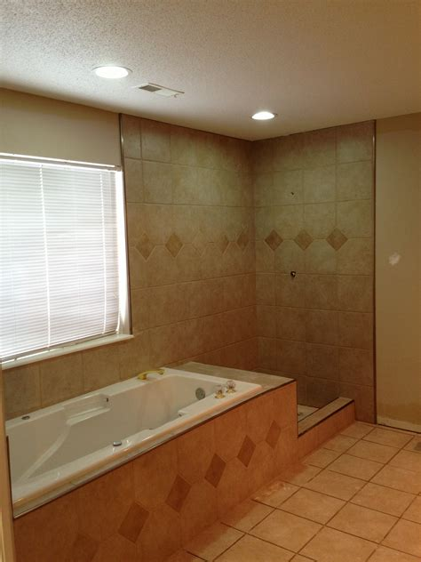jetted bathtub with shower shower tile and jetted tub tile complete columbia
