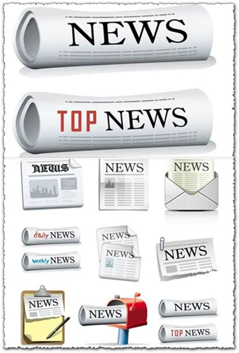 newspaper theme vector newspaper vector icons