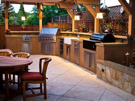 back yard kitchen ideas outdoor kitchen countertops pictures ideas from hgtv hgtv