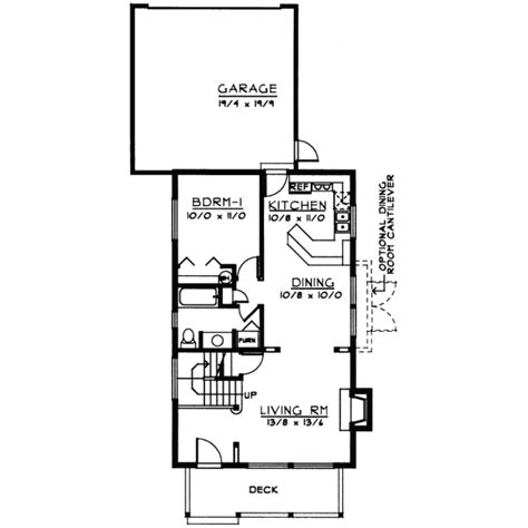house plans for narrow lots basement cottage house plans