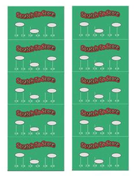 football scratch card template 1000 images about printable scratch on