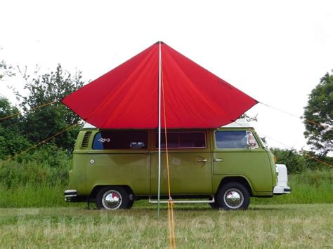 vw t25 awning vw t2 t25 cervan sun canopy awning chianti red