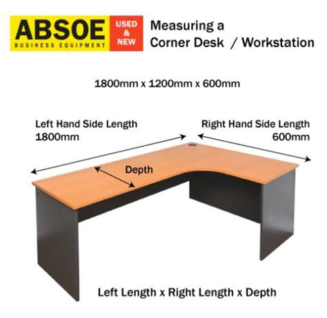 how to get a desk how to measure a corner desk or workstation absoe