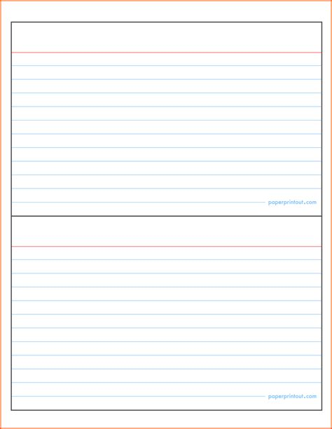 Microsoft Word 3x5 Index Card Template by Index Card Template Cyberuse