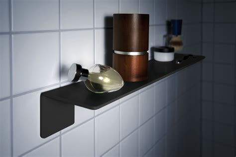 Bathroom Shelf Black Adhesive