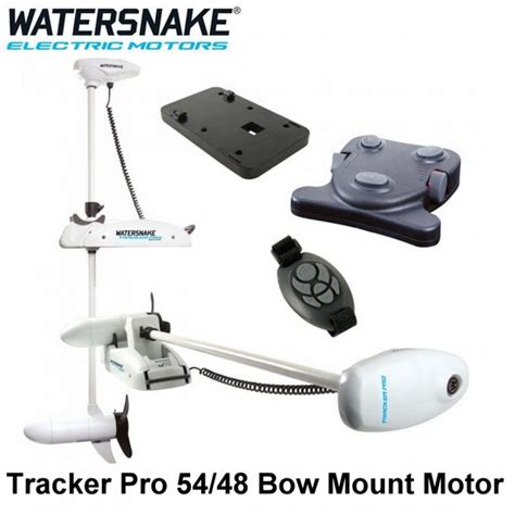 watersnake tracker pro 54 48 remote bow mount