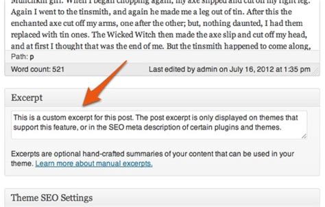 wordpress excerpt layout displaying truncated posts or excerpts on archive pages