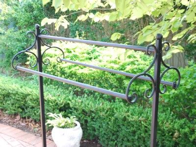 Cast Iron Quilt Rack Iron Clothes Blanket Quilt Rack 3 Rails Display Stand Home Fashion Shop 003