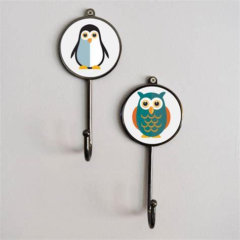 c15 pattern hooks personalised name safari animal pet coat wall hooks by
