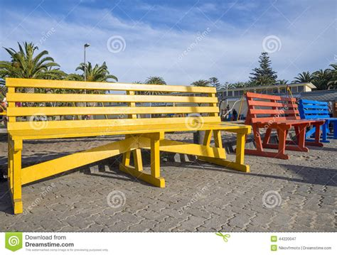 outdoor bench colors colored benches stock photo image 44220047