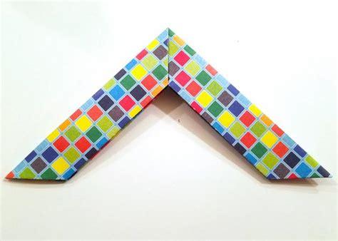 Boomerang Origami - how to make a paper boomerang