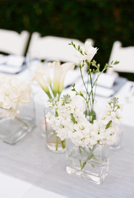 simple floral wedding centerpieces white centerpiece