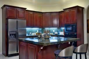 Kitchen Dark Cabinets Light Countertops » Home Design 2017