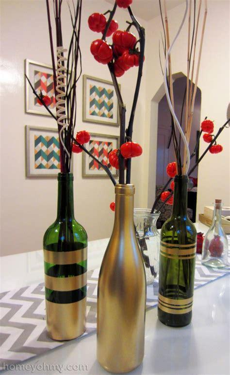 77 diy christmas decorating ideas spray painting sprays diy spray painted wine bottles for fall decorating homey