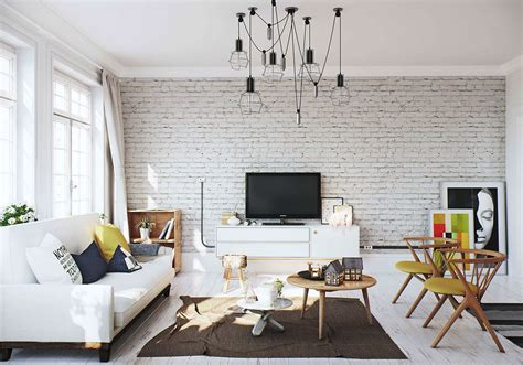white brick wall interior design ideas