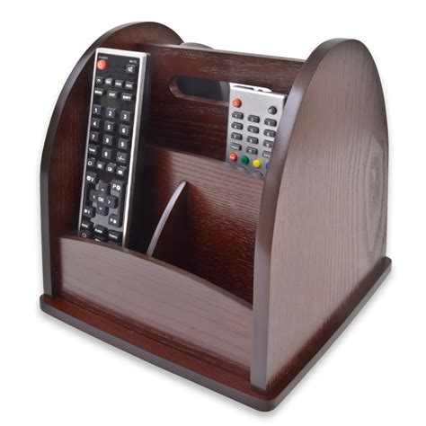 Remote Holder by Revolving Tv Remote Holder Organiser Wood Wooden