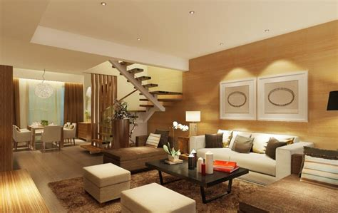 wood living room furniture 3d house