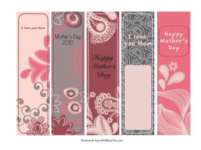 printable bookmarks mother s day 9 best images of free printable religious bookmarks for