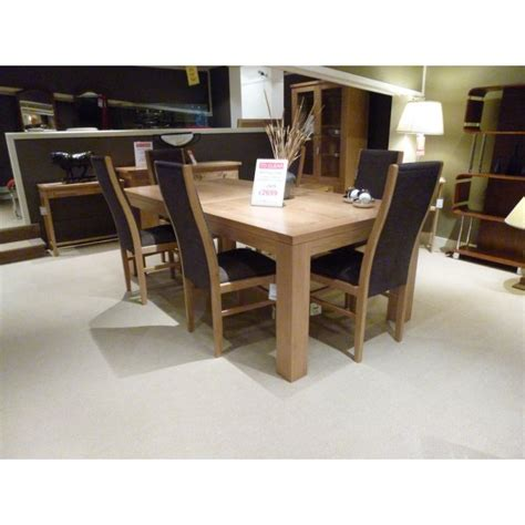 royal oak linton dining table and 6 chairs clearance