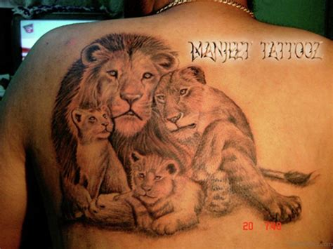 lion family tattoo 19 family tattoos for back
