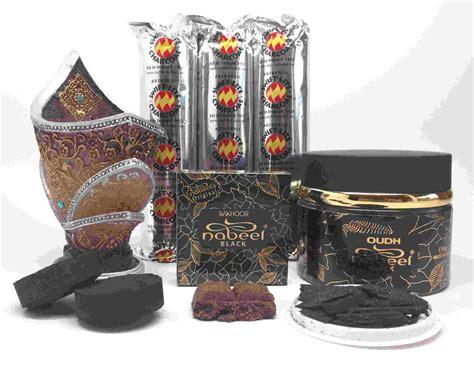 Nabeel Black Bakhoor nabeel black etisalbi oudh and bakhoor incense gift set