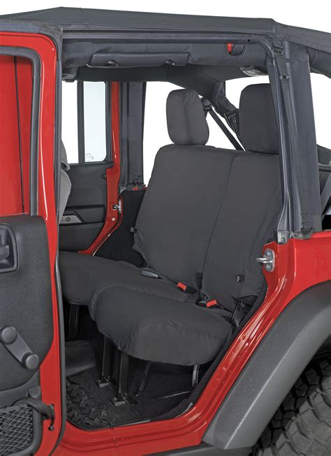 jeep jk unlimited rear seats covercraft rear seat savers for 07 10 jeep 174 wrangler