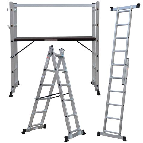 Multi Purpose Ladder new multi purpose diy step ladder aluminium 5 way scaffold