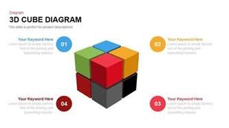 Powerpoint Cube Template by 3d Cube Diagram Powerpoint And Keynote Template Slidebazaar