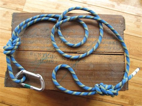 out on a leash how terryã s gave me new books recycled climbing rope carabiner leash blue