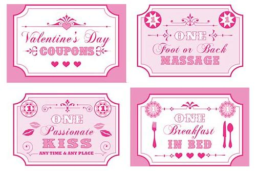 make your own valentine coupon book