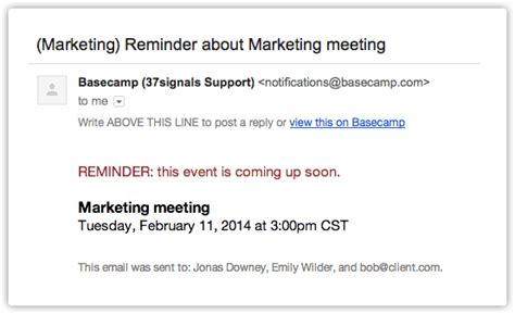 The Ultimate Event Reminder Email Guide Reminder Email Template