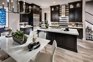 Crystal Chandelier For Dining Room 35 Luxury Kitchens With Dark Cabinets Design Ideas