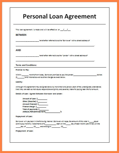 Sle Letter Loan Agreement Between Friends Personal Agreement Contract Template 28 Images Personal Contract Template Free Printable