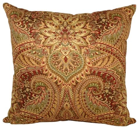 raj square throw pillow 16x16 mediterranean