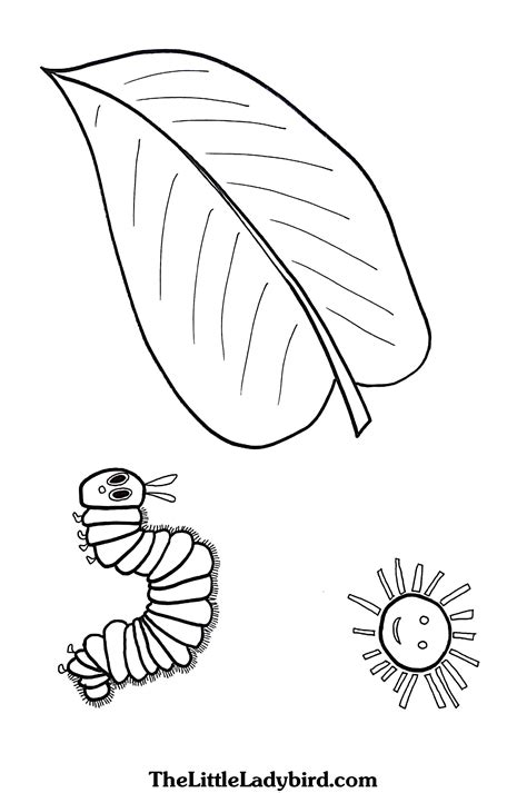 the hungry caterpillar coloring page coloring pages