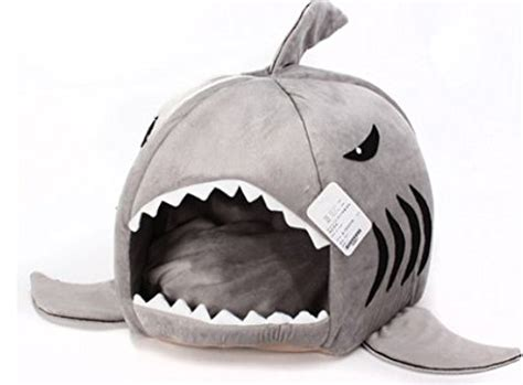 cat cave bed grey shark bed for small cat dog cave bed removable cushion waterproof bottom most