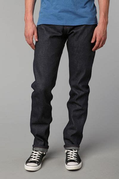 The Unbranded Brand Ub221 21oz Indigo Selvedge Tapered Fit unbranded tapered 21oz selvedge jean in blue for indigo lyst