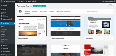 como instalar layout no wordpress como instalar temas no wordpress