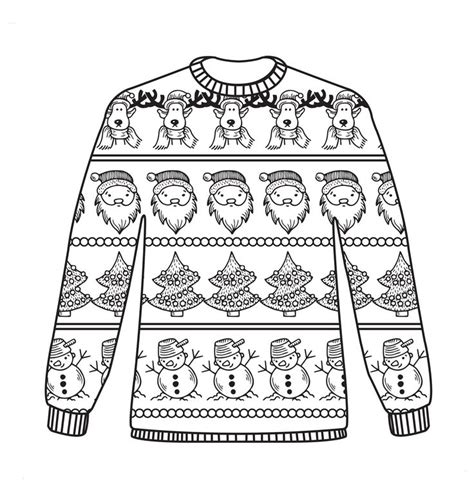 free ugly sweater printables free colouring sheets coloring pages fashion jumpers