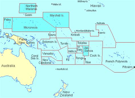 map of oceania oceania maps