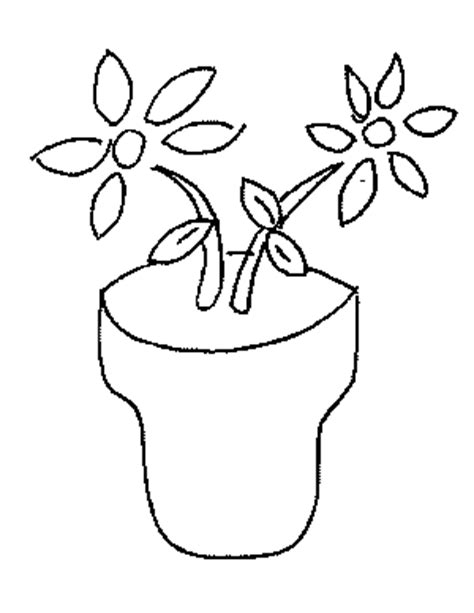 coloring pictures of flowers in a pot flowers in a pot coloring page