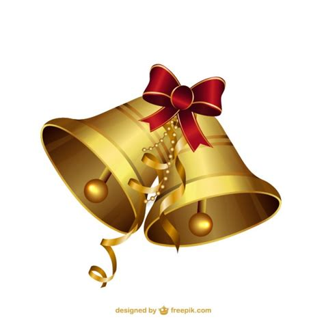 christmas bells illustrations vector free download