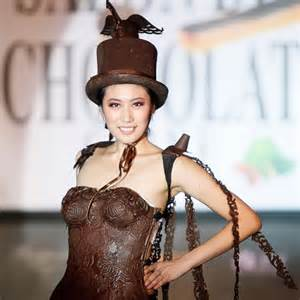 chocolate fashion pictures of clothing made of chocolate