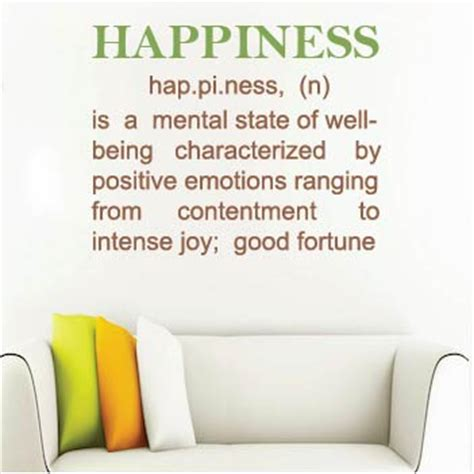 Kitchen Wall Quote Stickers happiness definition