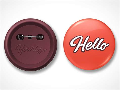 button template psd badge psd mockups