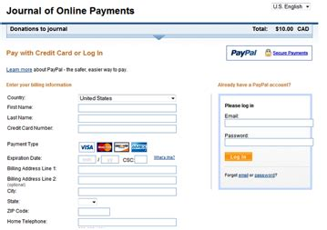 make credit card payment with another credit card using paypal for ojs and ocs payments pkp wiki